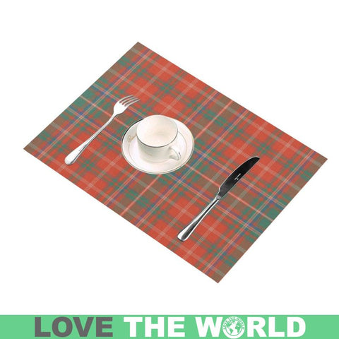 Macdougall Ancient Tartan Placemat 14 Inch X 19 (Six Pieces) - Tk1 Placemats