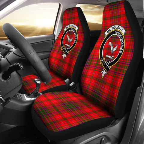 Macdougall Tartan Car Seat Cover - Clan Badge