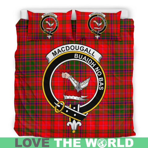 Macdougall Modern Tartan Clan Badge Bedding Set Ha9 Bedding Set - Black Black / Queen/full Sets