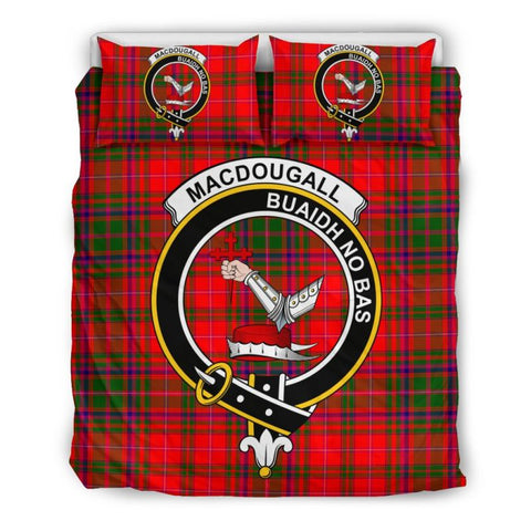 Macdougall Modern Clan Badge Tartan Bedding Set Ha9 Bedding Set - Black Black / Queen/full Sets