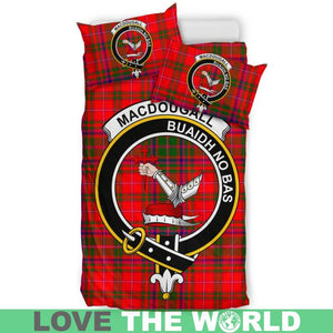 Macdougall Modern Clan Badge Tartan Bedding Set K7