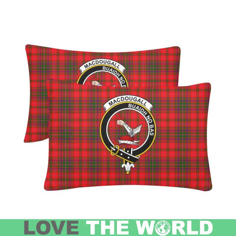Image of Macdougall Tartan Clan Badge Rectangle Pillow Hj4 One Size / Macdougall Custom Zippered Pillow Cases