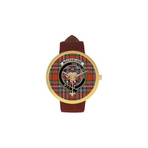 Macfarlane Ancient Clan Badge Tartan Watch