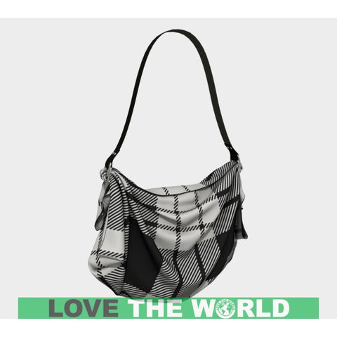 Image of Macfarlane Black_White Ancient Tartan Origami Tote D5 Bags