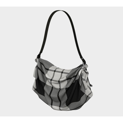 Image of Macfarlane Black_White Ancient Tartan Origami Tote H5 Bags
