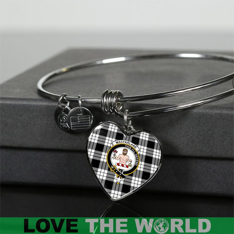 Macfarlane Black & White Tartan Silver Bangle - Sd1 Luxury Bangle (Silver) Jewelries
