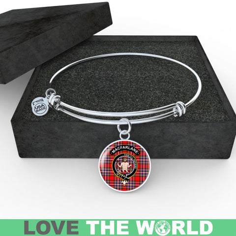 Macfarlane Clan Tartan Silver (Necklace/Bangle)  A9 |Accessories| 1sttheworld
