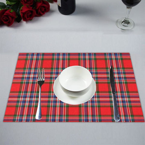 Image of Macfarlane Modern Tartan Placemat 14 Inch X 19 (Six Pieces) - Tk1 Placemats