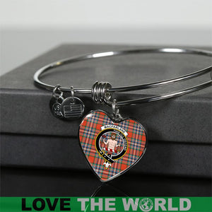 Macfarlane Tartan Silver Bangle - BN