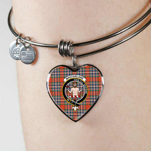 Macfarlane Tartan Silver Bangle - Sd1 Jewelries