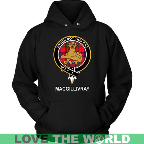 Image of Macgillivray Clan Tartan Shirt F1 Gildan Long Sleeve Tee / Black S T-Shirts