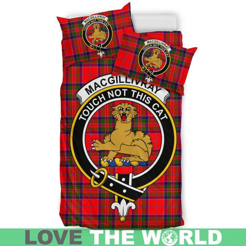 Macgillivray Modern Tartan Clan Badge Bedding Set Ha9 Bedding Set - Black Black / Queen/full Sets