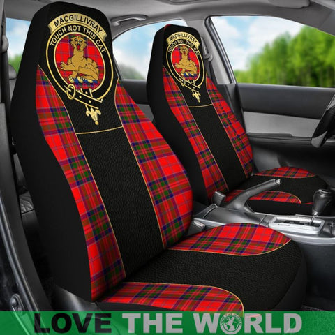 Image of Macgillivray Morden Tartan Clan Badge Golden Car Seat Covers E5