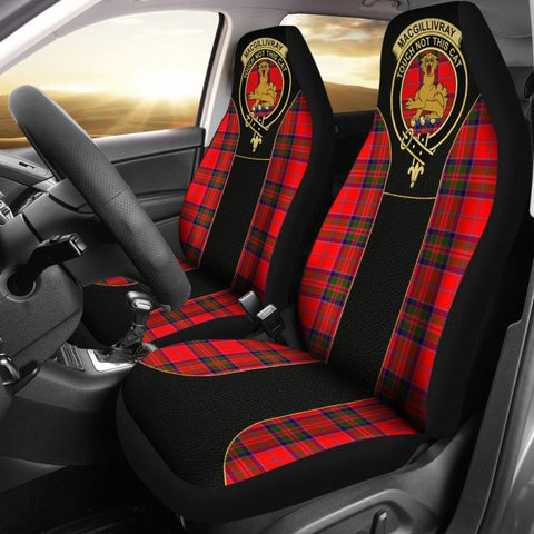 Macgillivray Morden Tartan Car Seat Cover - Golden Clan Badge