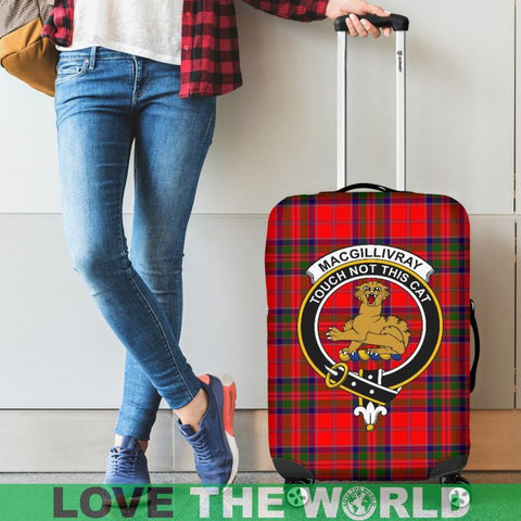 Image of Macgillivray Tartan Clan Badge Luggage Cover Hj4 | Love The World