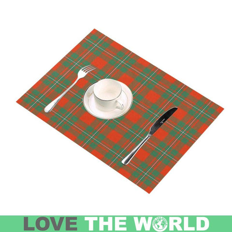 Macgregor Ancient Tartan Placemat 14 Inch X 19 (Six Pieces) - Tk1 Placemats