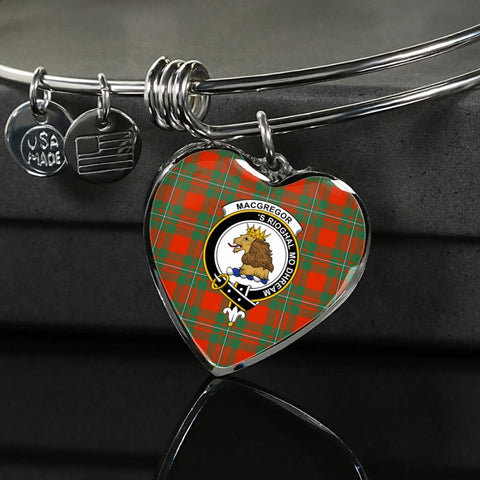 Macgregor Ancient Tartan Silver Bangle - Sd1 Luxury Bangle (Silver) Jewelries