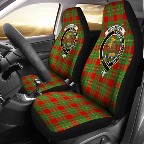 Macgregor Tartan Car Seat Cover - Clan Badge