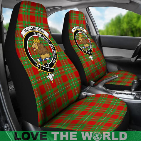 Image of Macgregor Clan Badges Tartan Car Seat Cover Ha5