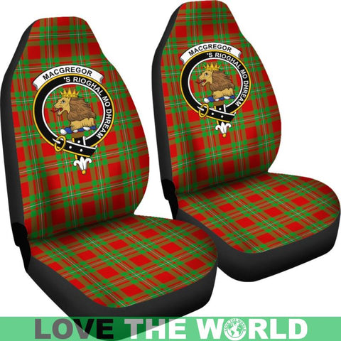 Macgregor Clan Badges Tartan Car Seat Cover Ha5
