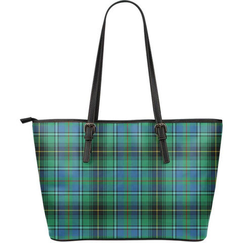 Macinnes (Mcinnes) Ancient Tartan Handbag - Large Leather Tartan Bag