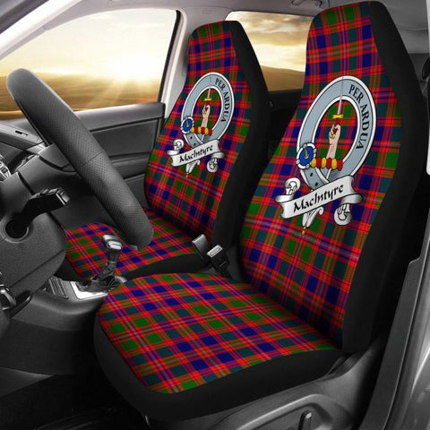 Macintyre Tartan Car Seat Cover - Clan Badge