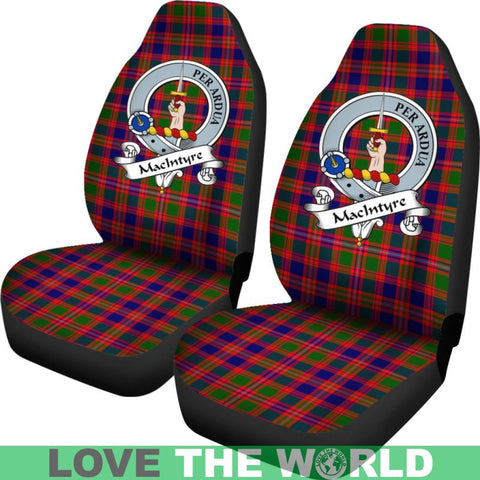 Image of Macintyre Clan Badges Tartan Car Seat Cover Ha5