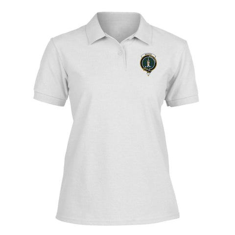 Mackay Badge Women Tartan Polo Shirt | Over 300 Clans Tartan | Special Custom Design | Love Scotland