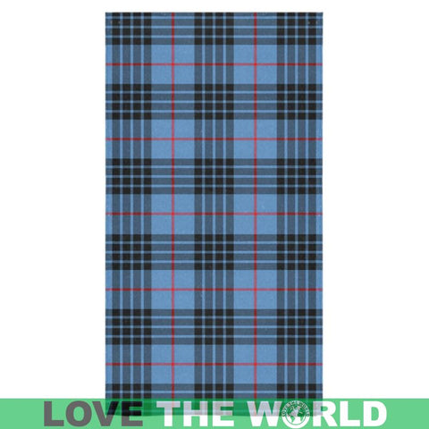 Image of Mackay Blue Tartan Towel Th1 One Size / Square Towel 13X13 Towels