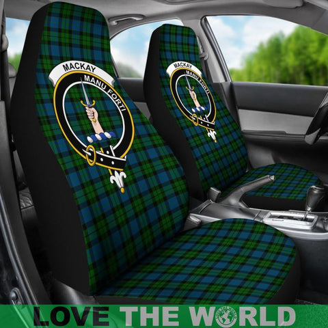 Mackay Clan Badges Tartan Car Seat Cover Ha5