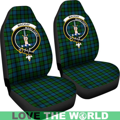 Image of Mackay Clan Badges Tartan Car Seat Cover Ha5