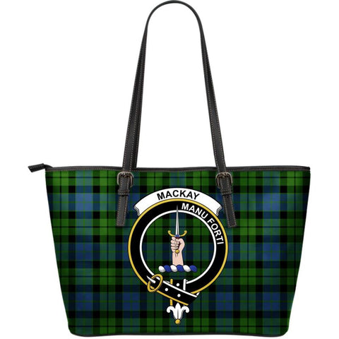 Mackay (Mckay) Modern Tartan Handbag - Clan Badge Large Leather Tartan Bag