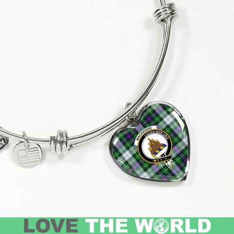 Mackenzie Dress Modern Tartan Silver Bangle - Sd1 Luxury Bangle (Silver) Jewelries
