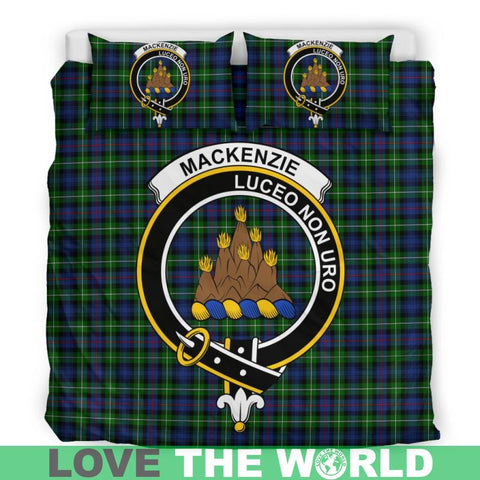 Mackenzie Modern Tartan Clan Badge Bedding Set Ha9 Bedding Set - Black Black / Queen/full Sets