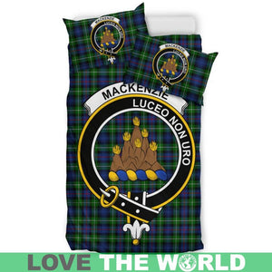 Mackenzie Modern Clan Badge Tartan Bedding Set K7