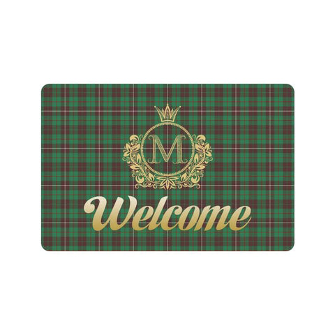 Mackinnon Hunting Ancient Tartan Doormat HJ4 |Home Set| Love The World