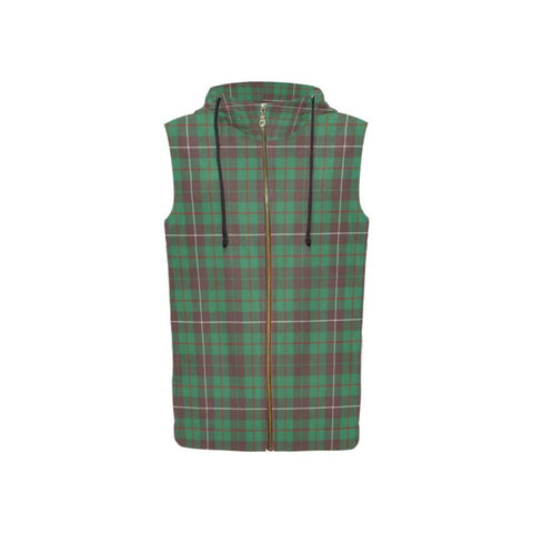 Mackinnon Hunting Ancient Tartan - Women Sleeveless Zip Up Hoodie