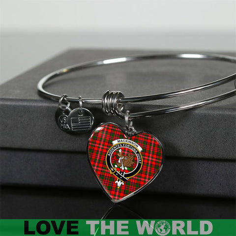 Mackinnon Tartan Silver Bangle - Sd1 Jewelries