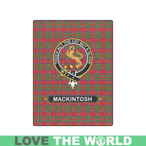 Mackintosh Tartan Blanket | Clan Crest | Shop Home Decor