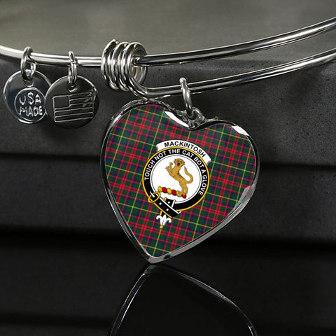 Mackintosh Hunting Modern Tartan Silver Bangle - Sd1 Luxury Bangle (Silver) Jewelries