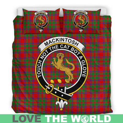 Mackintosh Modern Tartan Clan Badge Bedding Set Ha9 Bedding Set - Black Black / Queen/full Sets