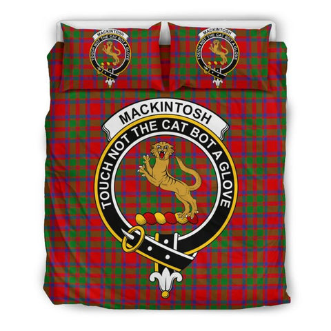 Mackintosh Modern Clan Badge Tartan Bedding Set Ha9 Bedding Set - Black Black / Queen/full Sets