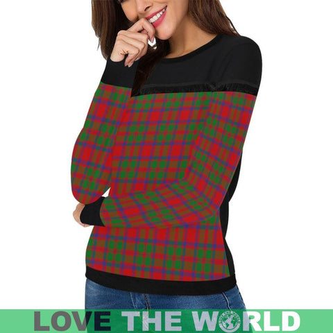 Mackintosh Modern Tartan Women's Fringe Detail Sweatshirt Nn5 |Clothing| 1sttheworld