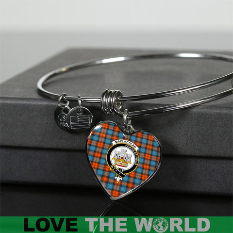 Maclachlan Ancient Tartan Silver Bangle - Sd1 Luxury Bangle (Silver) Jewelries