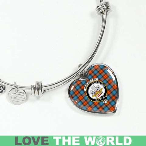 Image of Maclachlan Ancient Tartan Silver Bangle - Sd1 Luxury Bangle (Silver) Jewelries