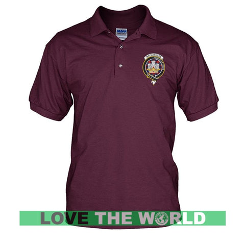Maclachlan Badge Men Tartan Polo Shirt | Over 300 Clans Tartan | Special Custom Design | Love Scotland