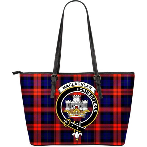 Maclachlan (Mclachlan) Modern Tartan Handbag - Clan Badge Large Leather Tartan Bag