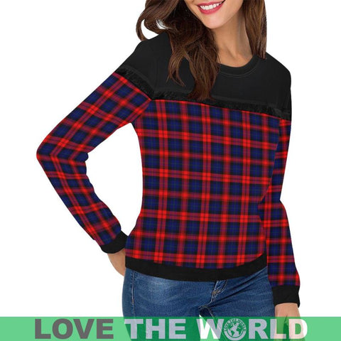 Image of Maclachlan Modern Tartan Women's Fringe Detail Sweatshirt - BN |Clothing| 1sttheworld