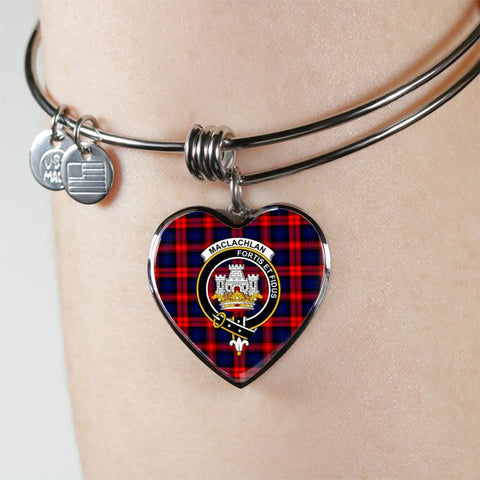Maclachlan Tartan Silver Bangle - Sd1 Jewelries