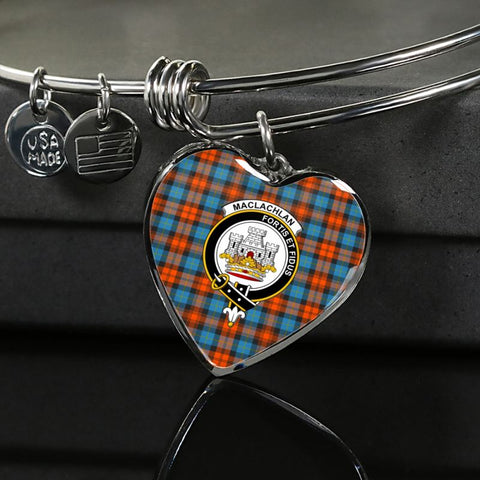 Maclachlan Weathered Tartan Silver Bangle - Sd1 Luxury Bangle (Silver) Jewelries
